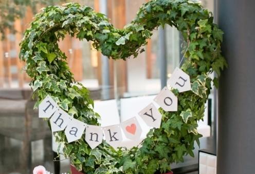 結婚式の受付に飾るウェルカムハートの画像です