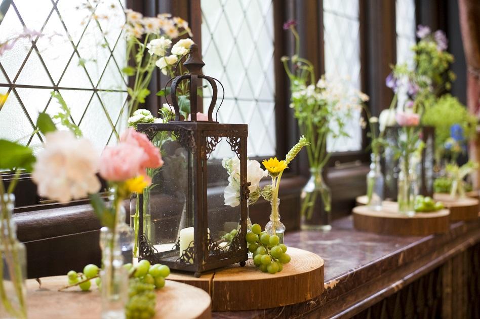 結婚式会場のお花の写真です