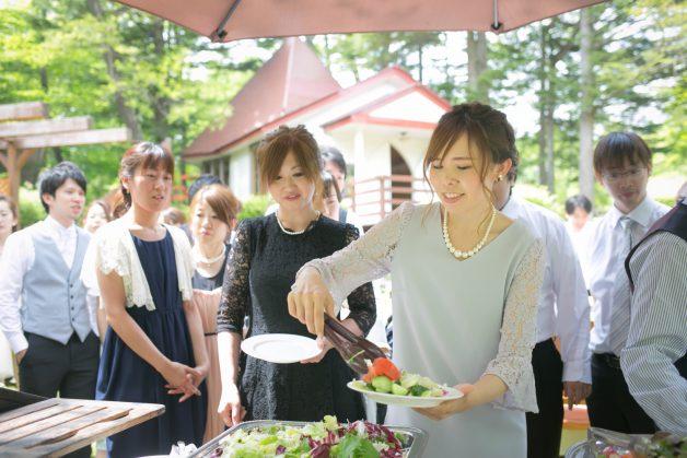 披露宴でのお料理の写真です