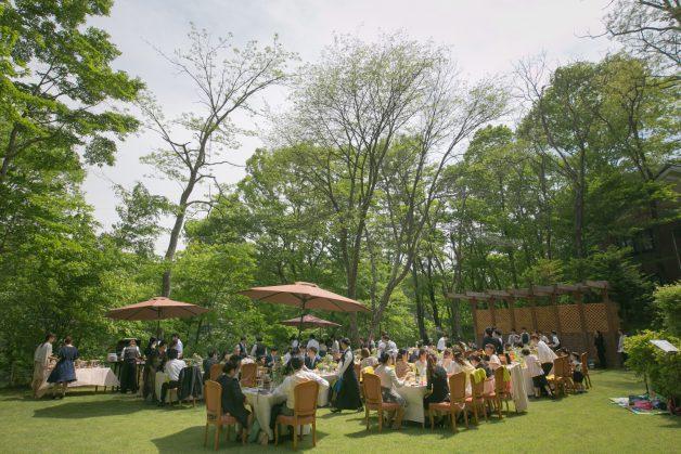 ガーデンパーティーの写真です