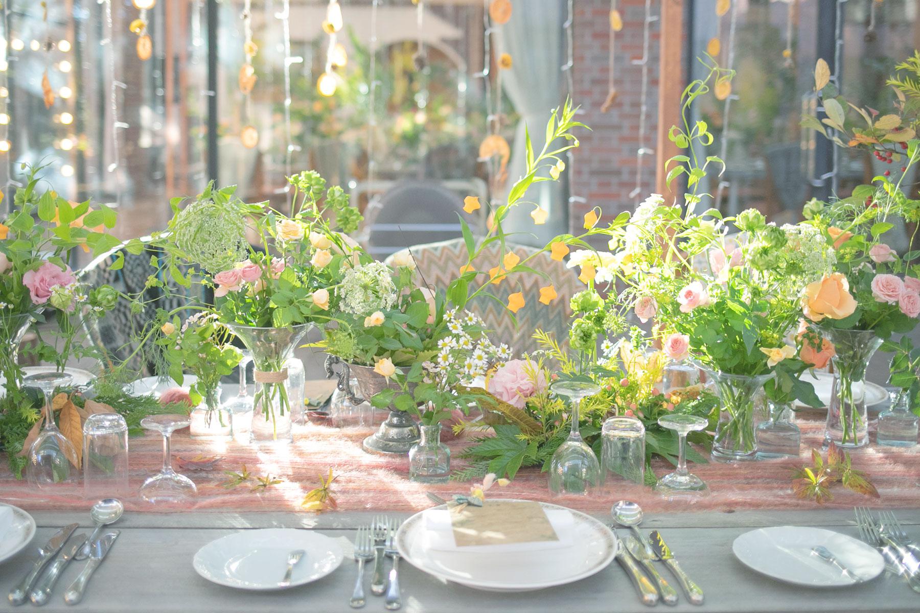 結婚式会場の装花の写真です