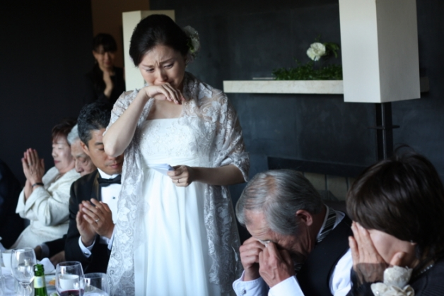軽井沢での披露宴の画像です