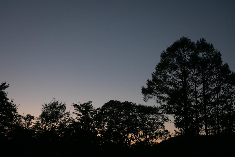 軽井沢の日没の写真です