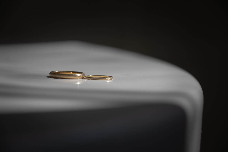 新郎が手作りした結婚指輪