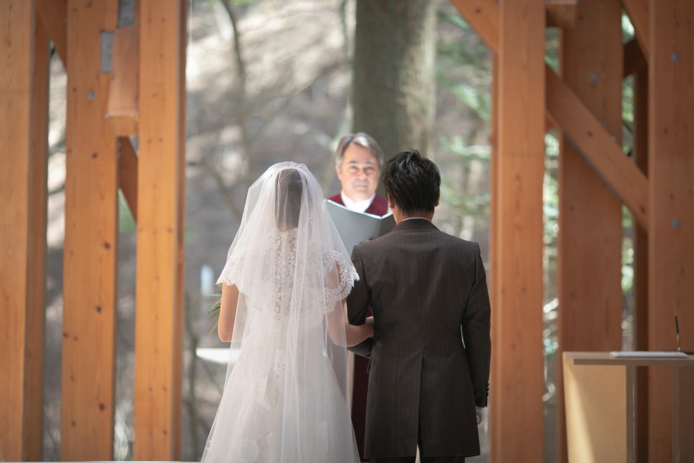 結婚式での誓いの時